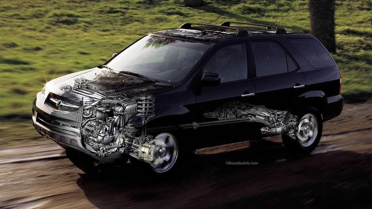 Подвеска и мотор Acura MDX YD1