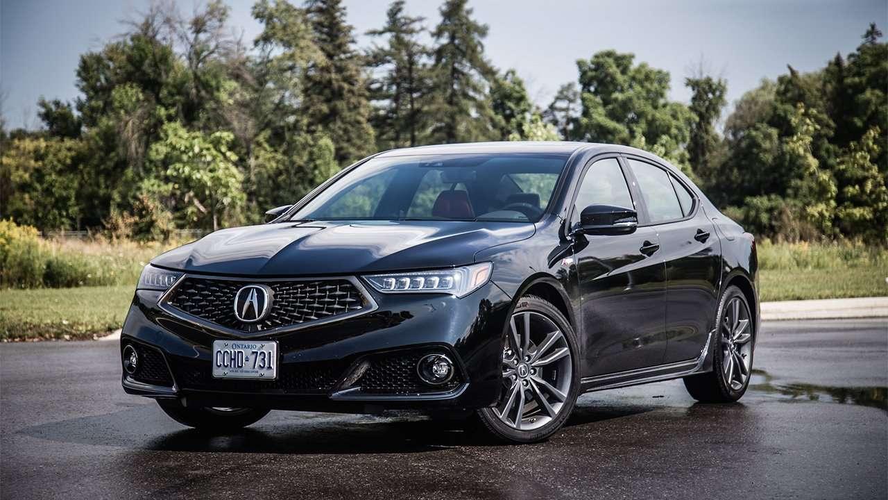Черная Acura TLX 2020-2021