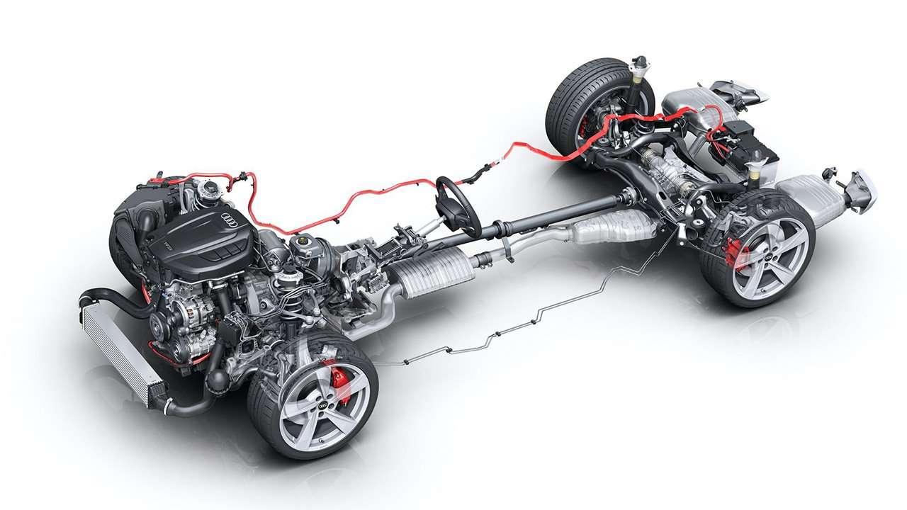 Конструкция новой Audi A4 B9