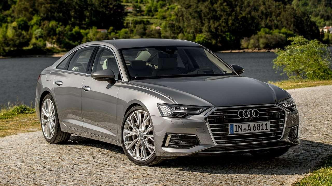 Audi A6 2020-2021 фото спереди