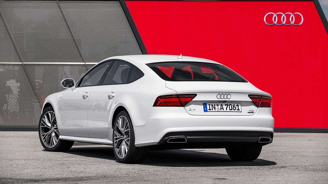Audi A7 2014-2017 фото сзади