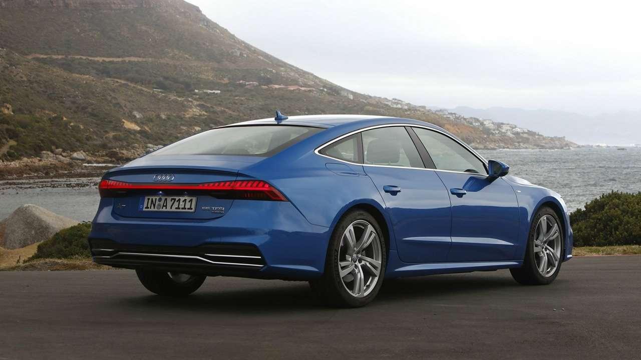 Audi A7 Sportback 2020-2021 фото сзади