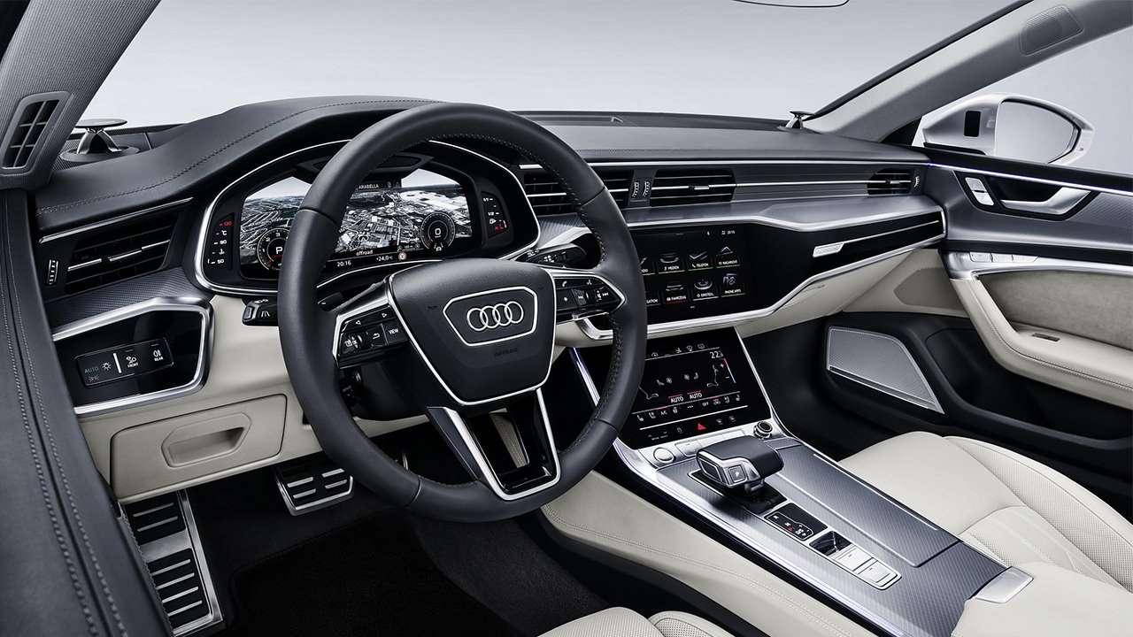 Фото салона Audi A7 2020-2021