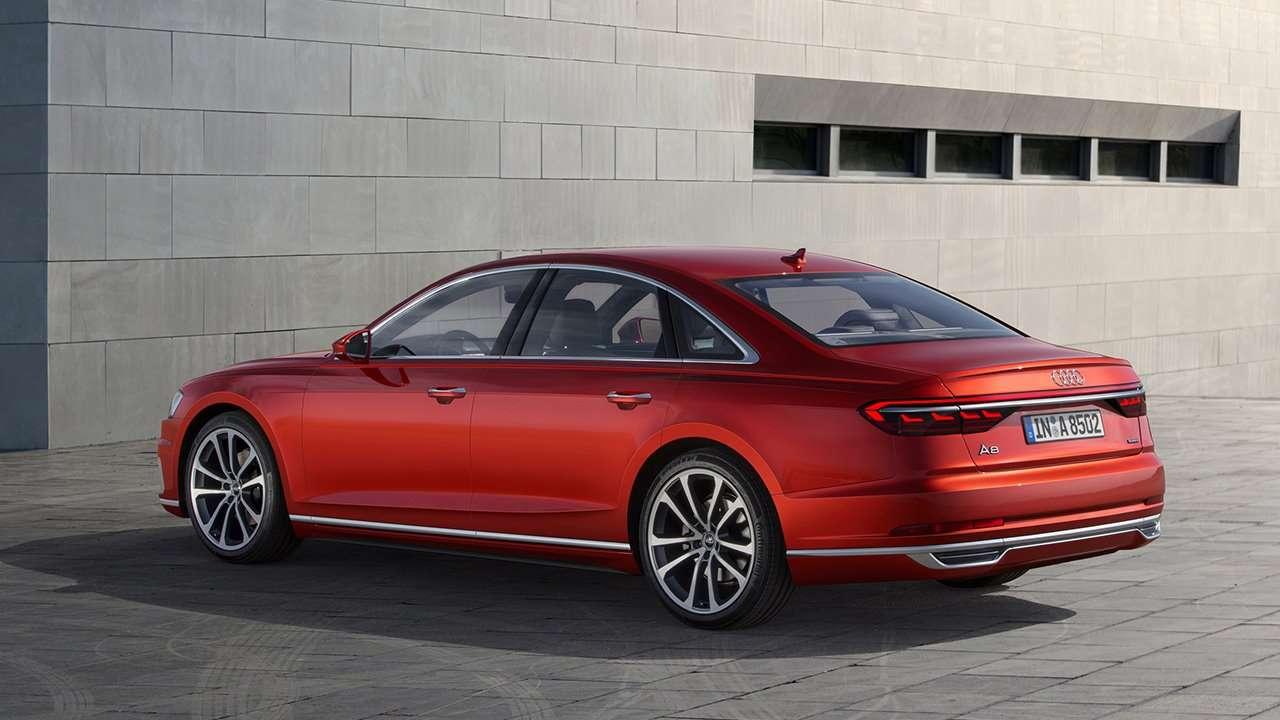 Audi A8 D5 2019-2020 фото сзади