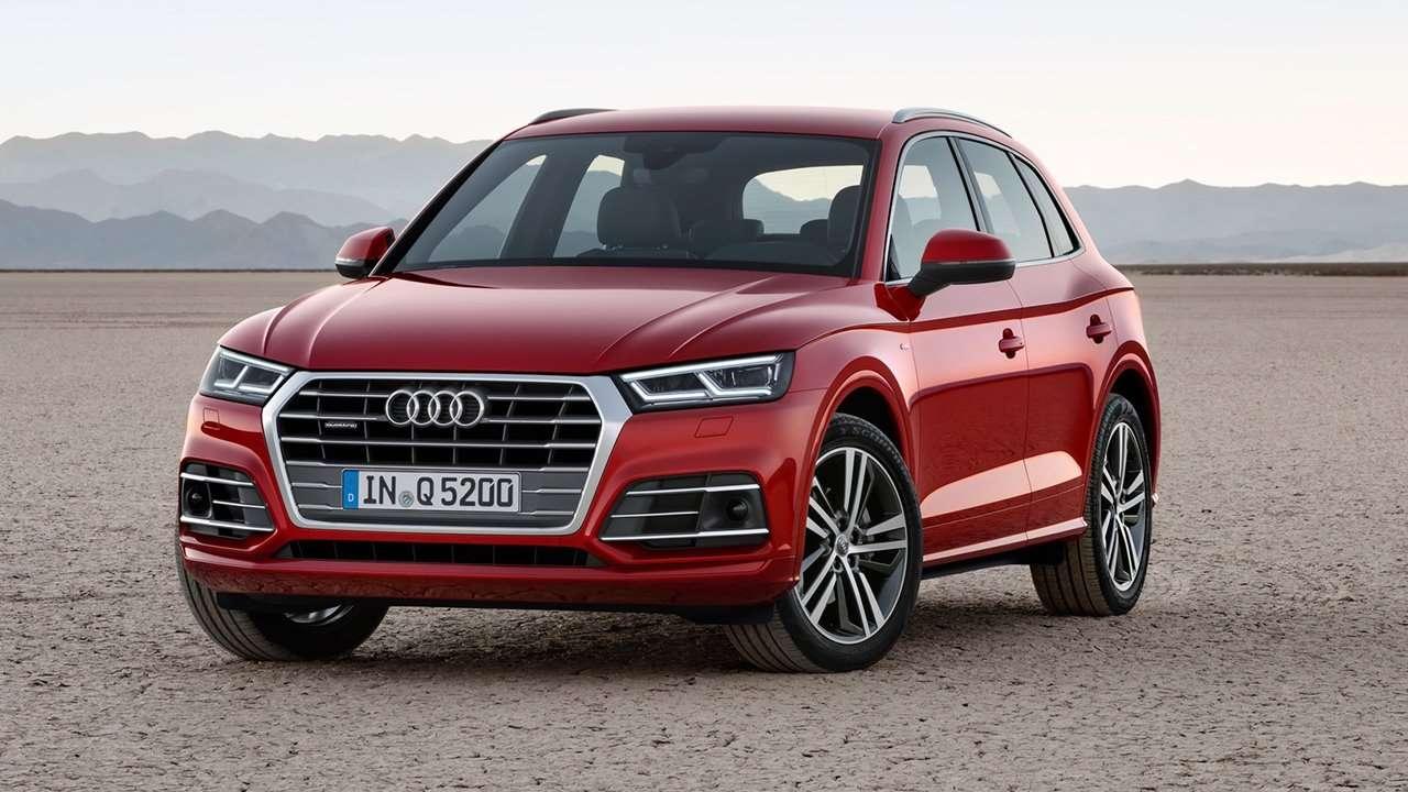 Audi Q5 2020-2021 фото спереди