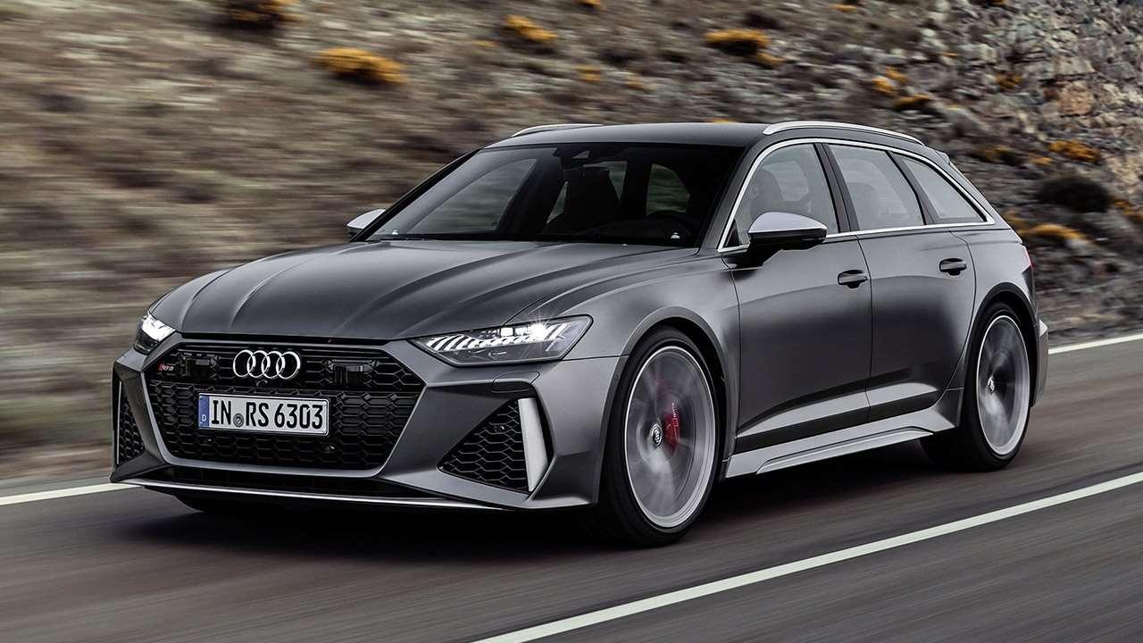 Audi RS6 Avant 2020-2021 фото спереди