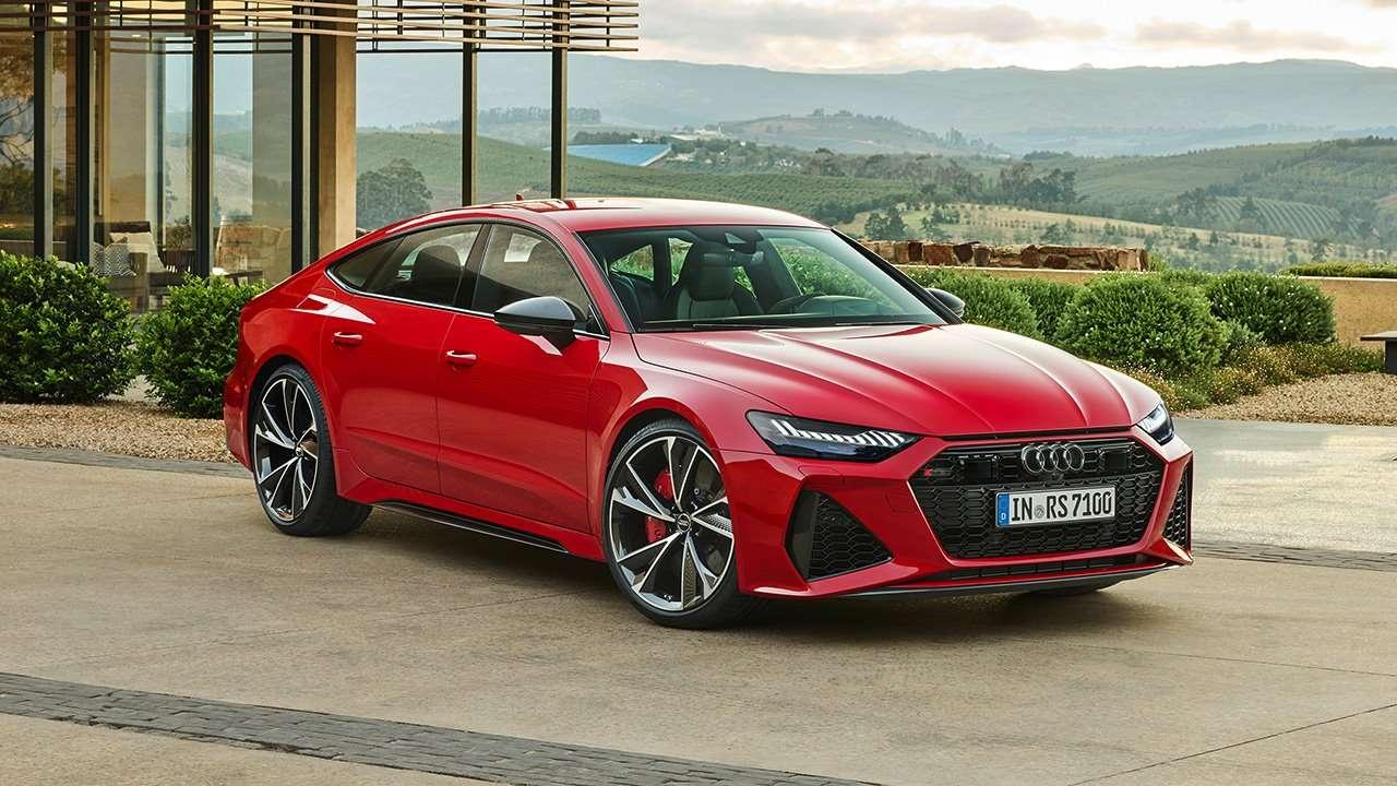 Audi RS7 2020-2021 фото спереди