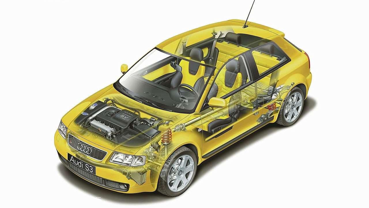 Двигатель и подвеска Ауди S3 8L