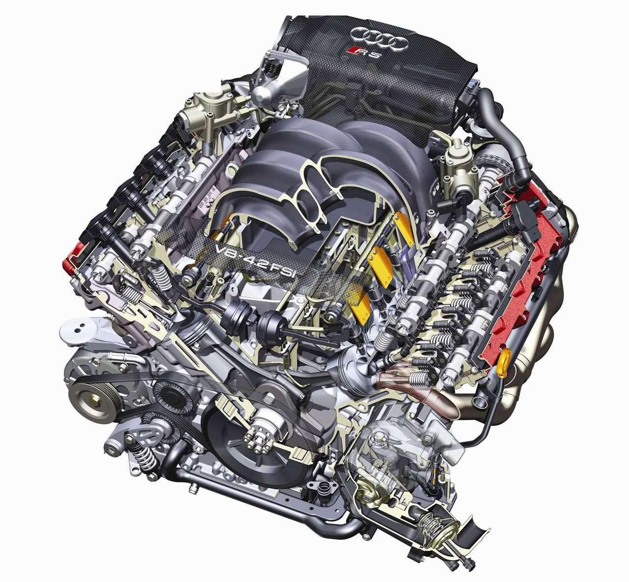 Фото двигателя Ауди S4 B6