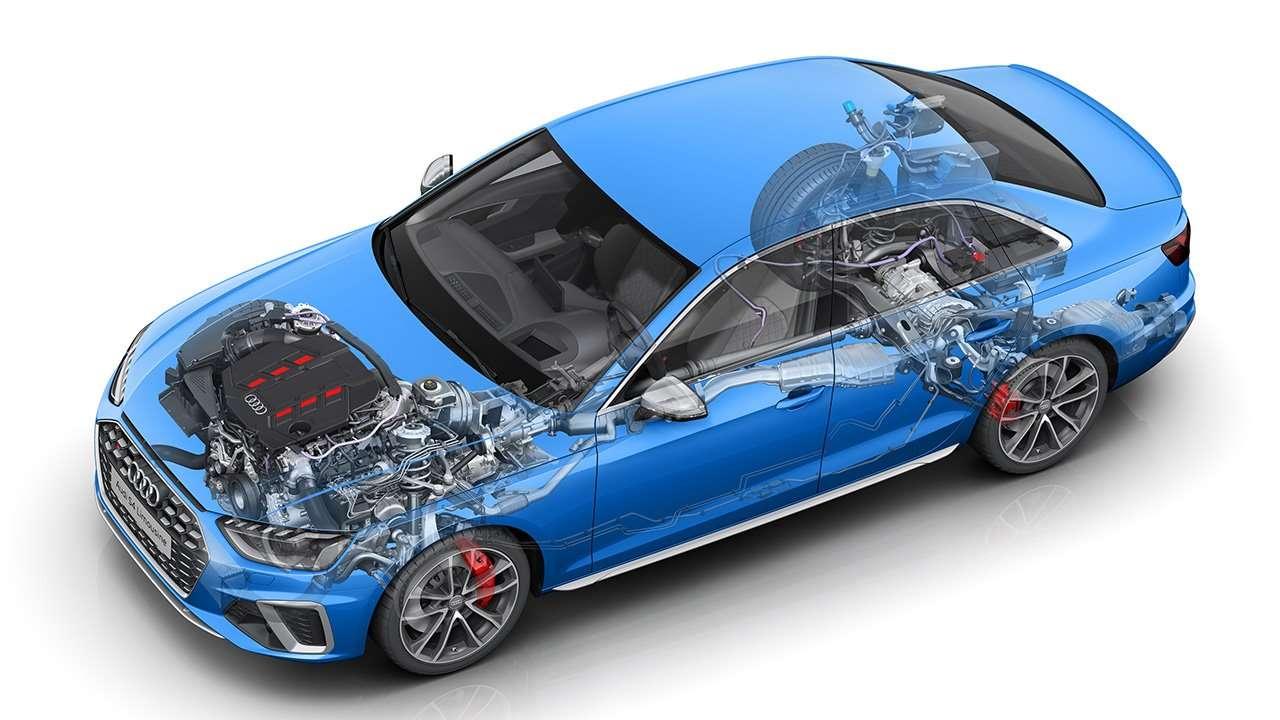Мотор и подвеска Audi S4 B9