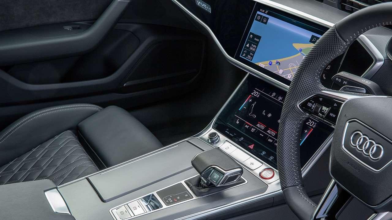 Консоль и тоннель Audi S6 2020-2021