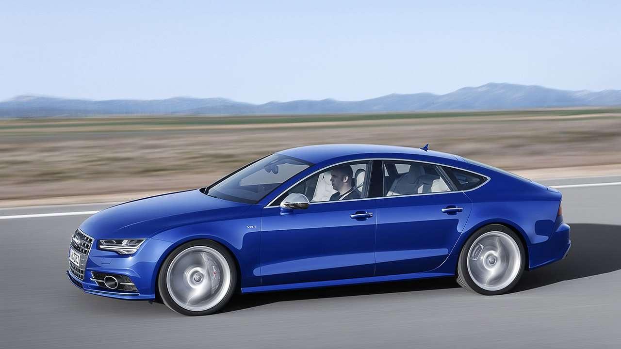 Audi S7 4G фото сбоку