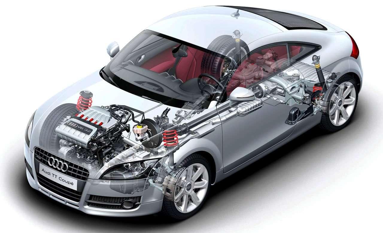 Подвеска и двигатель Audi ТТ 8Ж