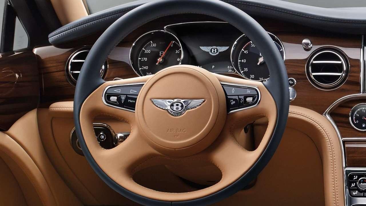 Руль нового Bentley Mulsanne