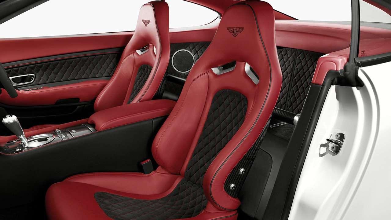 Bentley Supersports 2017 сиденья в салоне