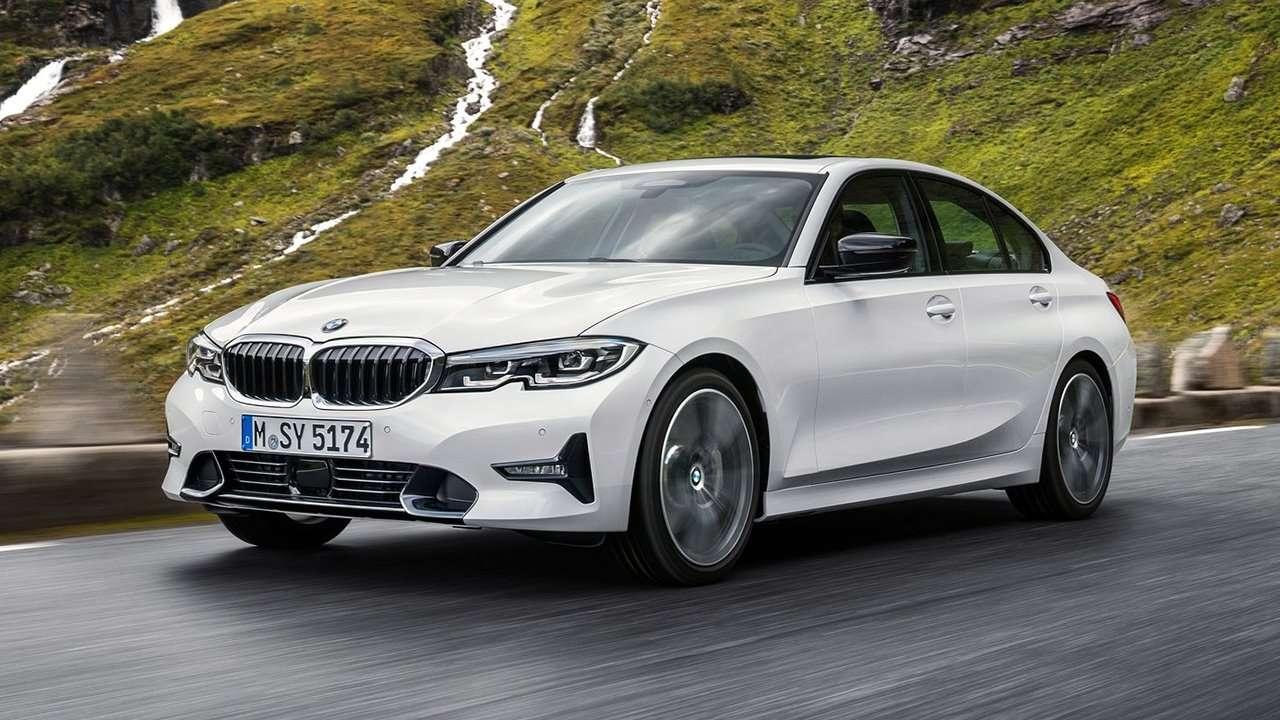 Белая BMW 3-Series G20 2020-2021 Sport Line