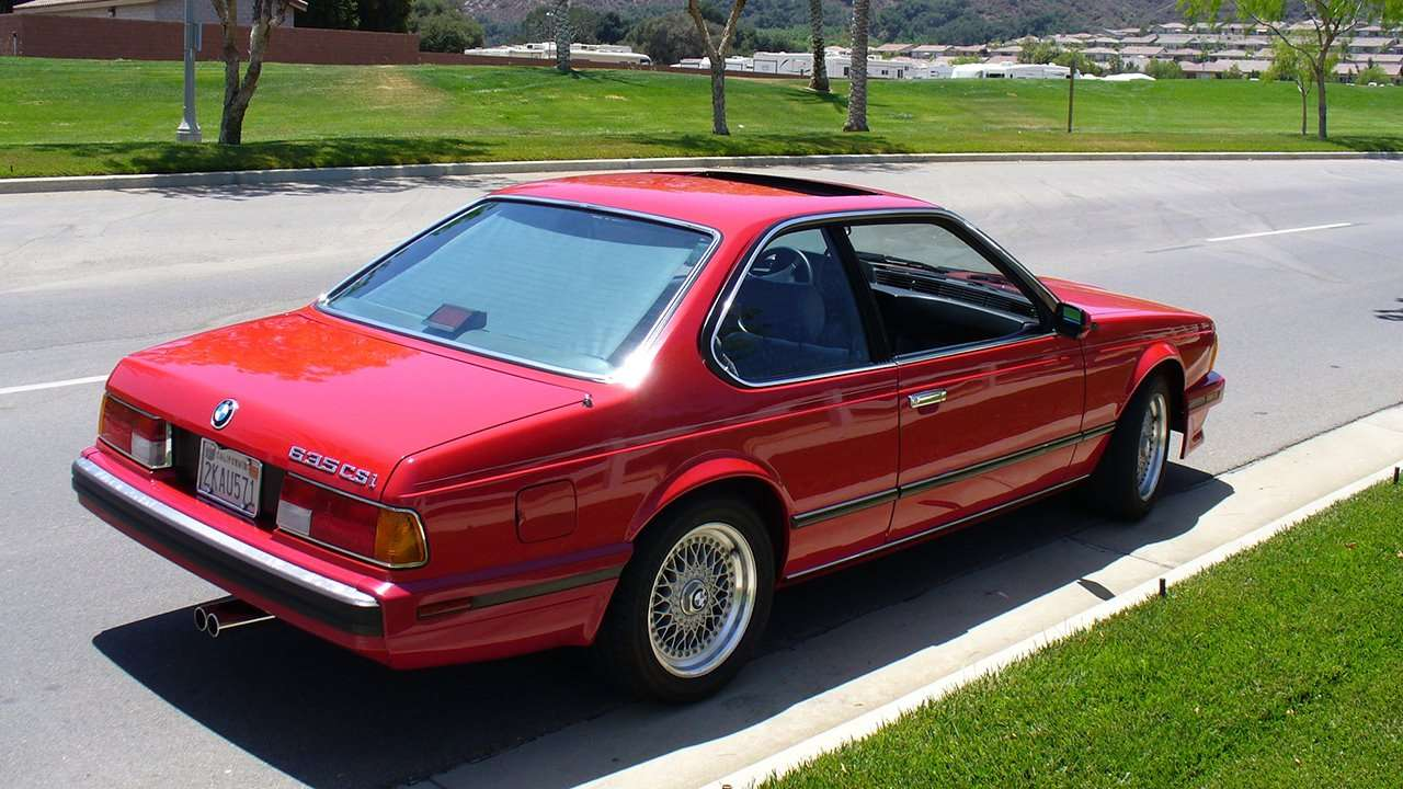BMW 6-Series e24 фото сзади
