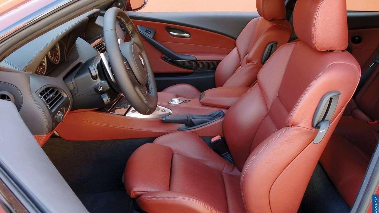 передние сиденья БМВ 6-Серии е63