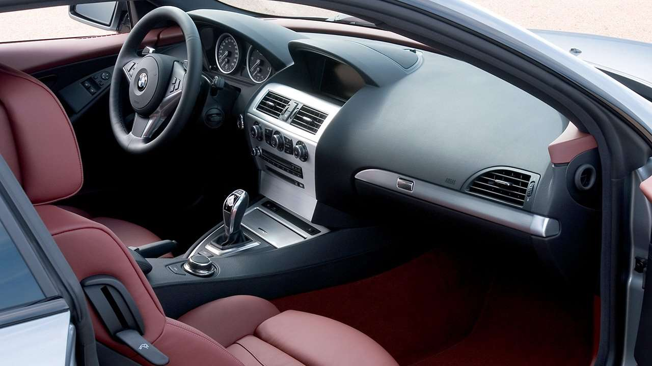 BMW 6-Series e63 интерьер