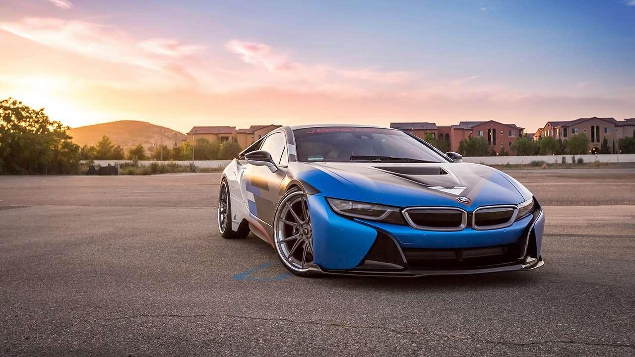 BMW i8 2020-2021 фото передней части