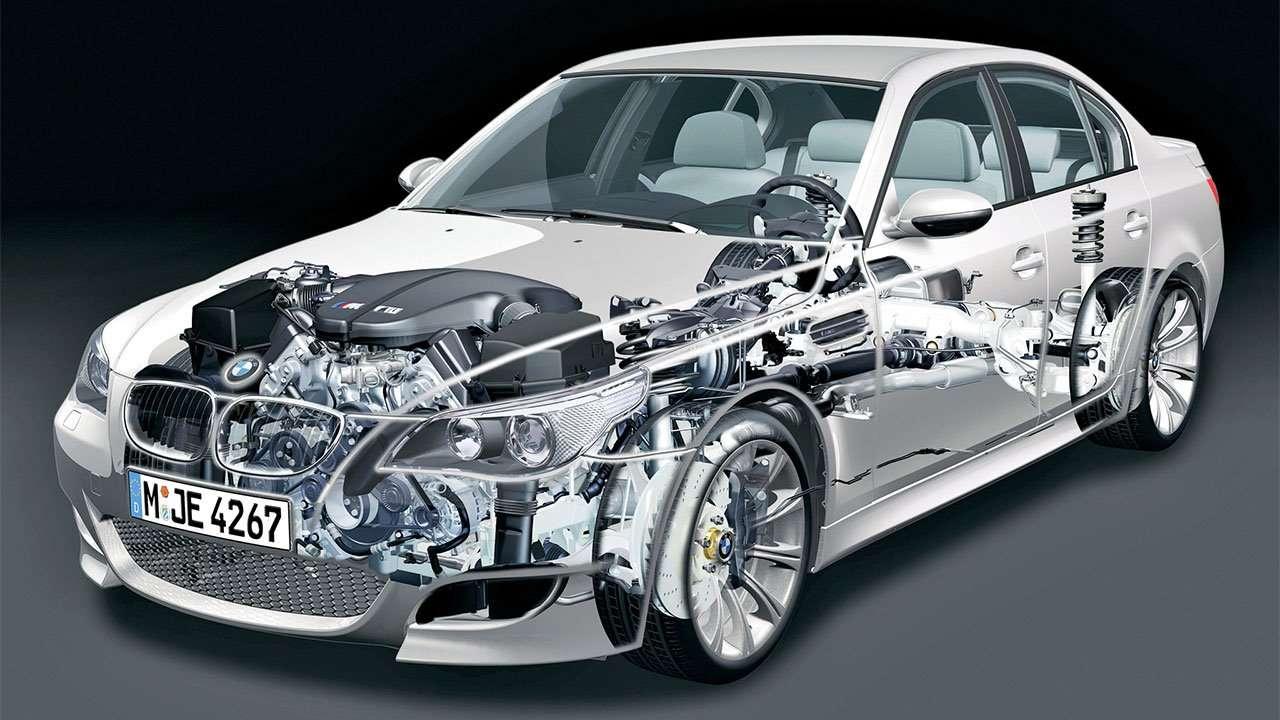 BMW M5 e60 в разрезе