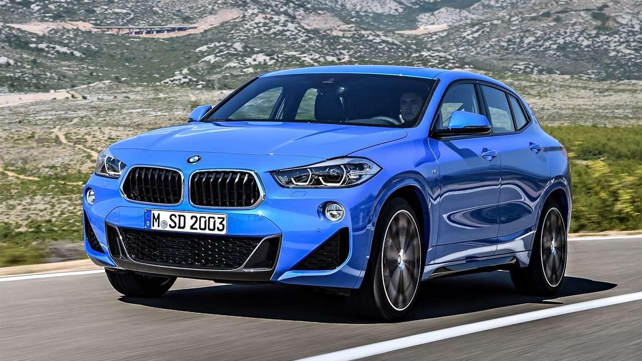 Фото синего BMW X2 2020-2021