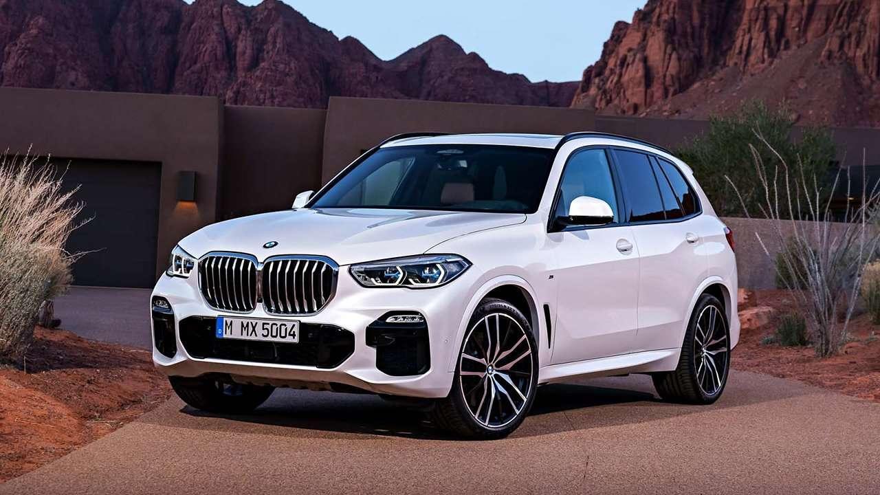 Белый BMW X5 2020-2021 G05