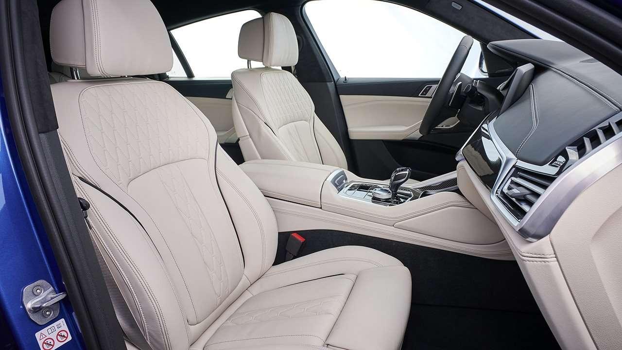 Передние сиденья нового X6