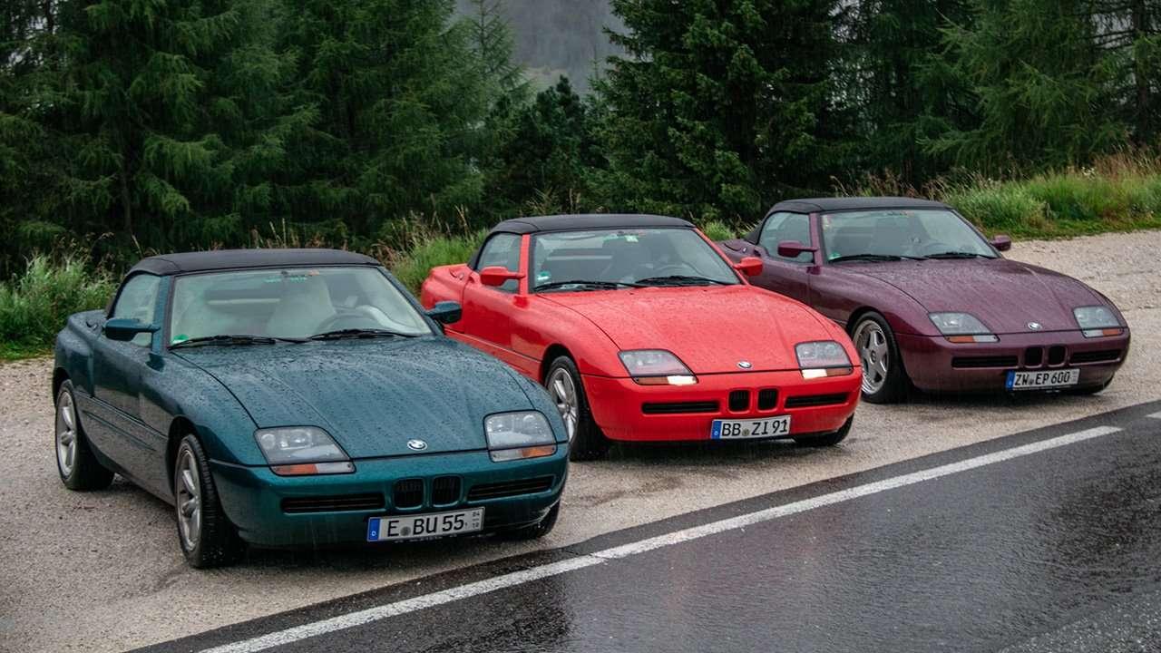 Три родстера BMW Z1