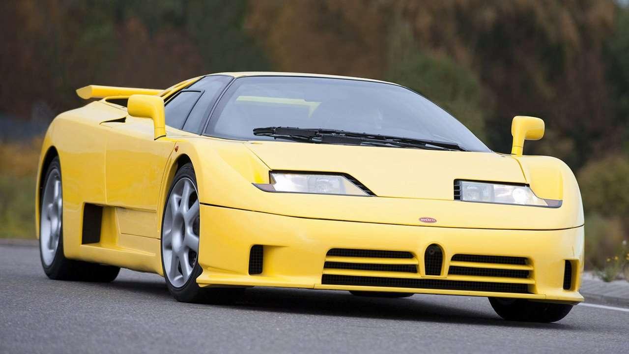 Bugatti EB 110 фото спереди
