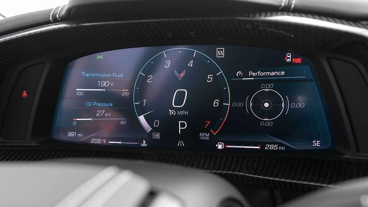 Панель приборов Corvette 2020
