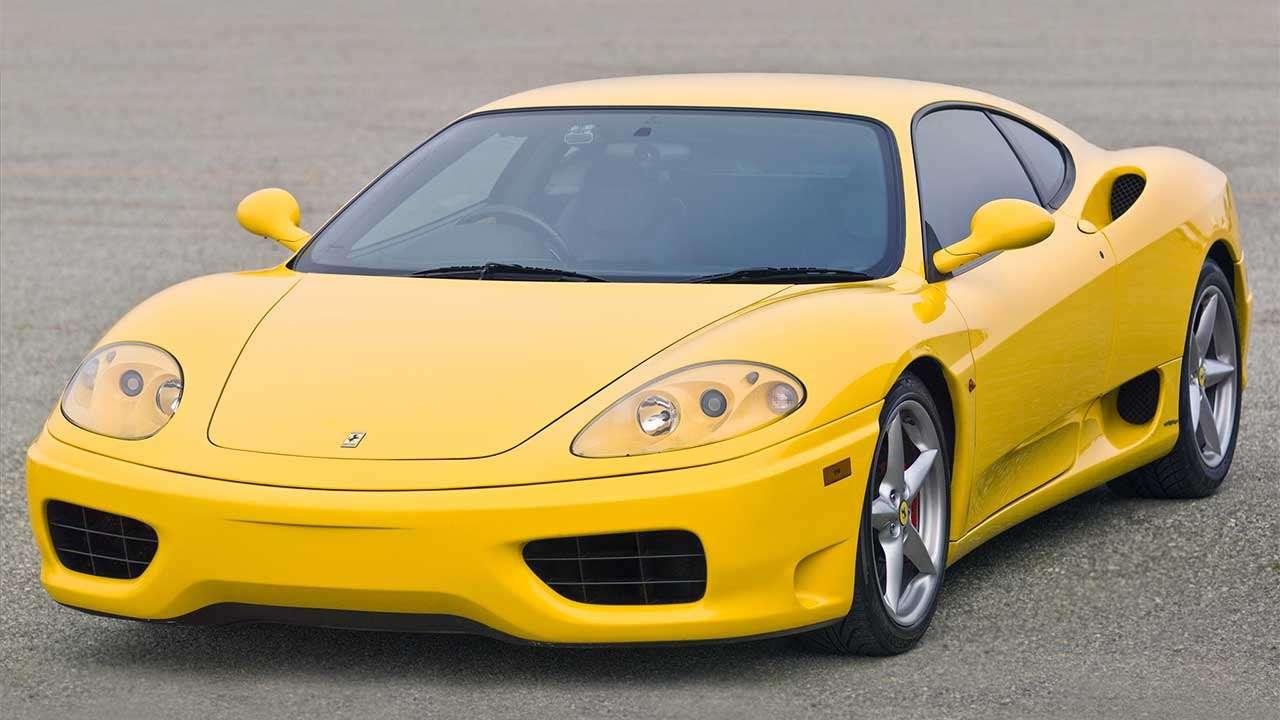 Фото желтой Ferrari 360 Модена