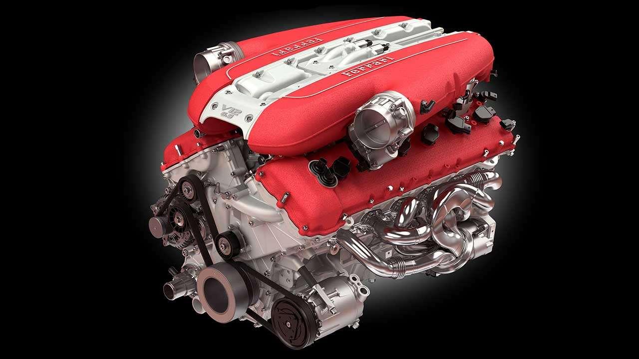 Фото двигателя Ferrari 812 СуперФаст