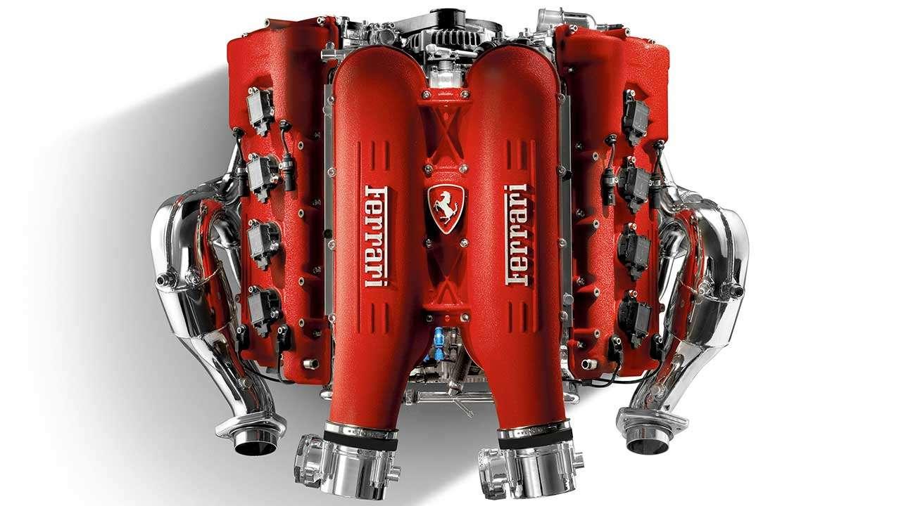 Фото двигателя Феррари F430