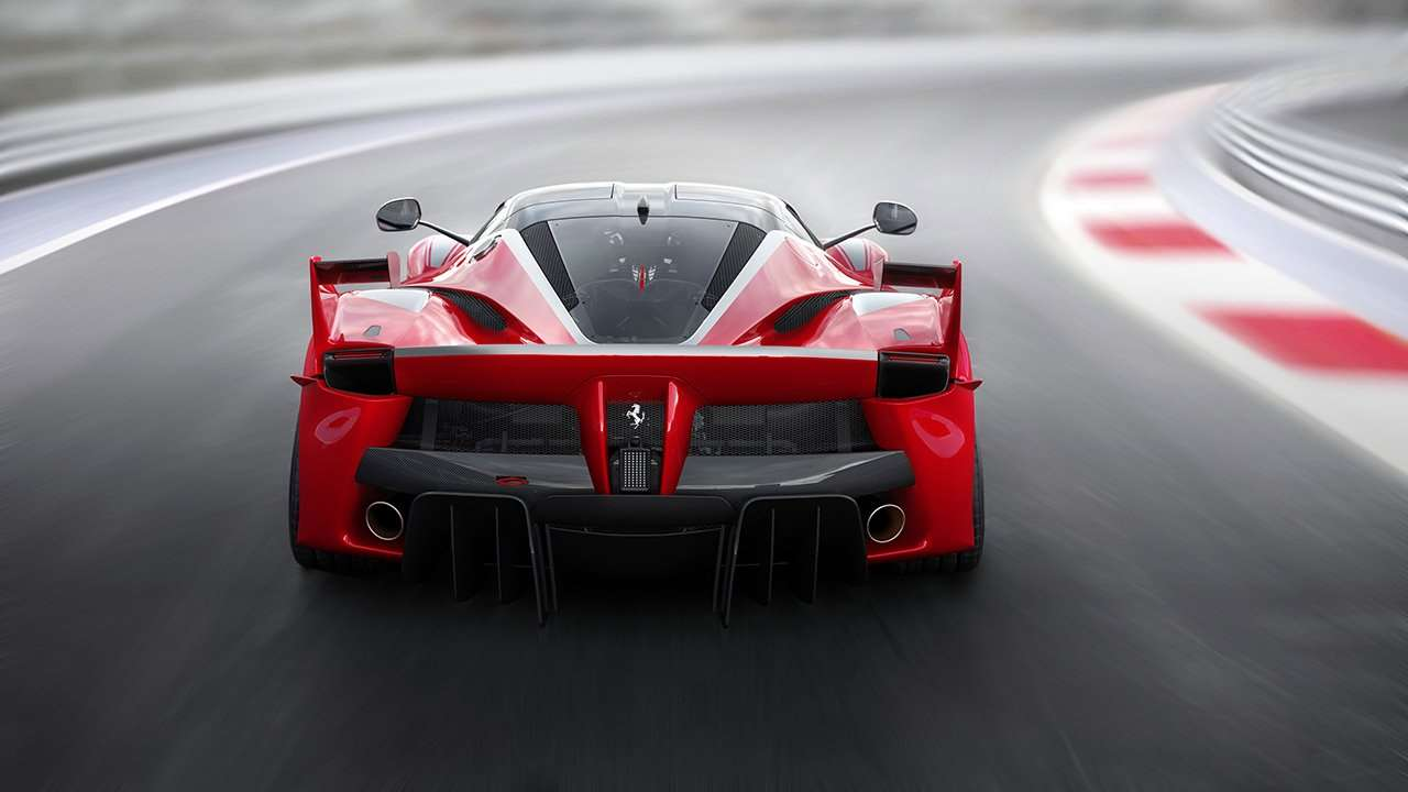 Ferrari FXX K фото задней части