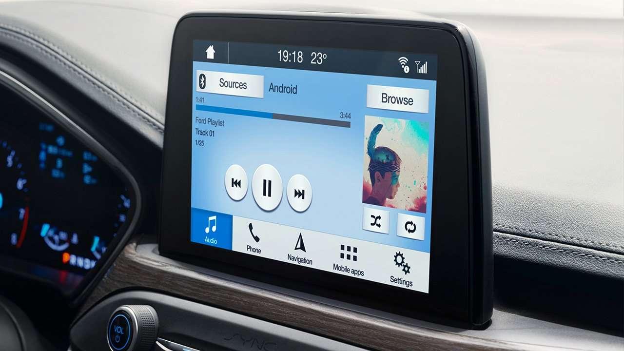 Дисплей мультимедиа нового Форд Фокуса