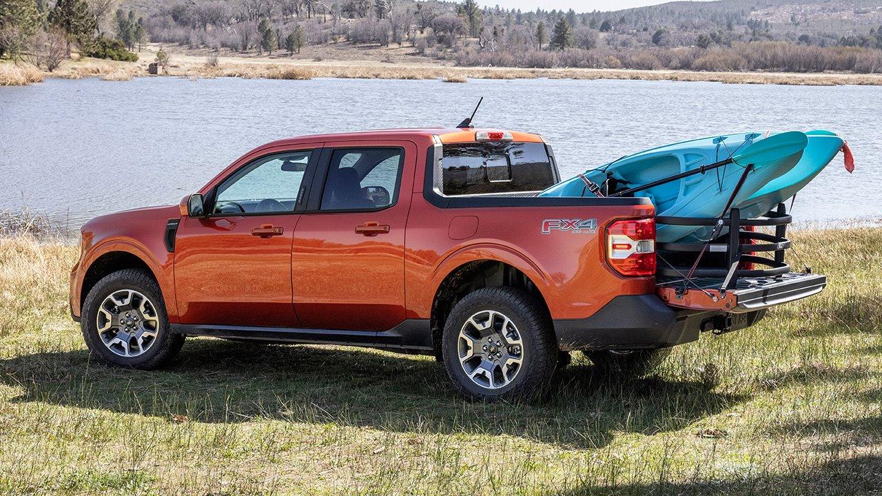 Ford Maverick 2021-2022 с грузом