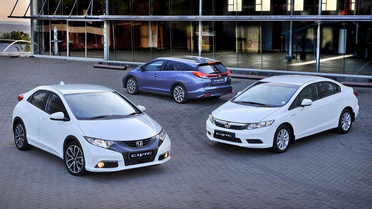 Все кузова Honda Civic IX (2011-2016)