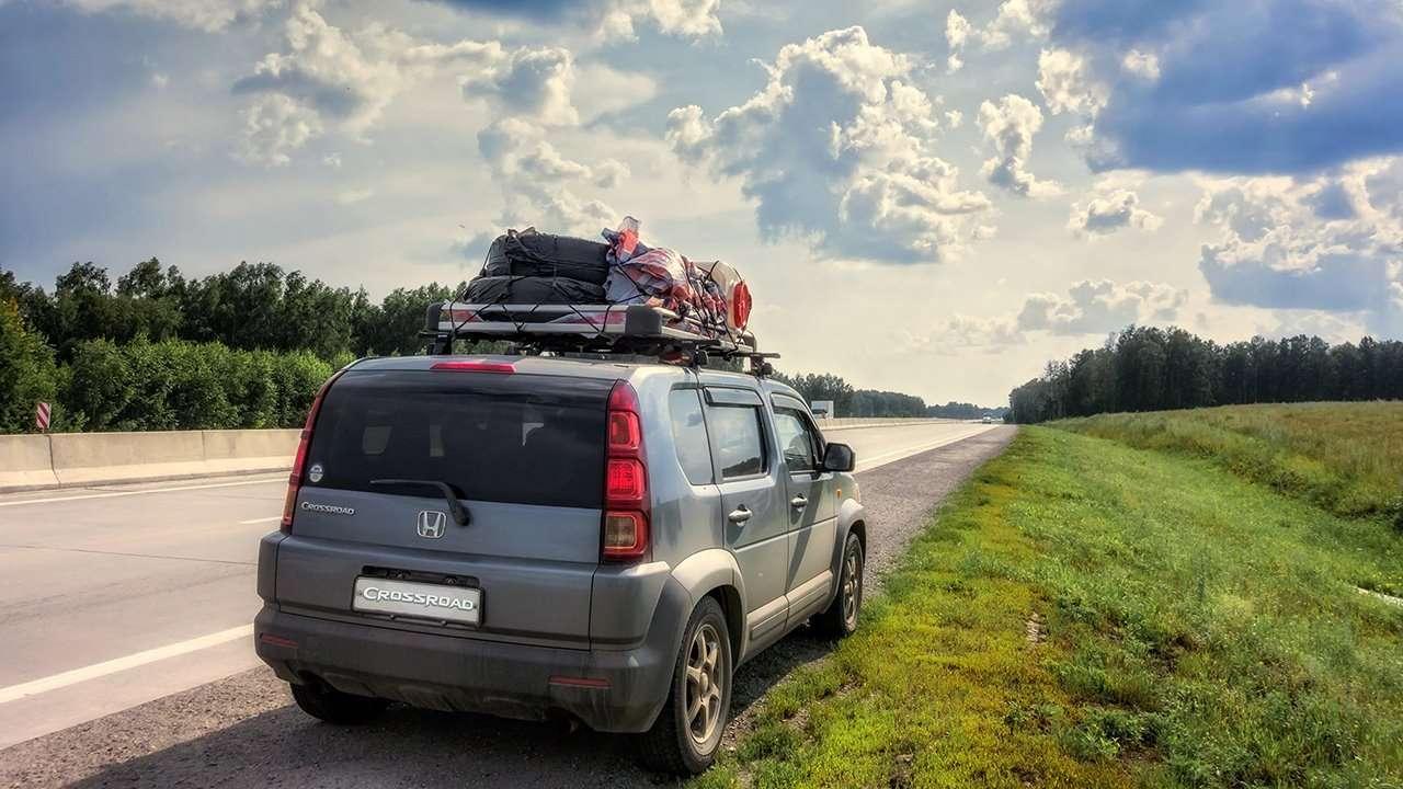 Honda Crossroad фото сзади