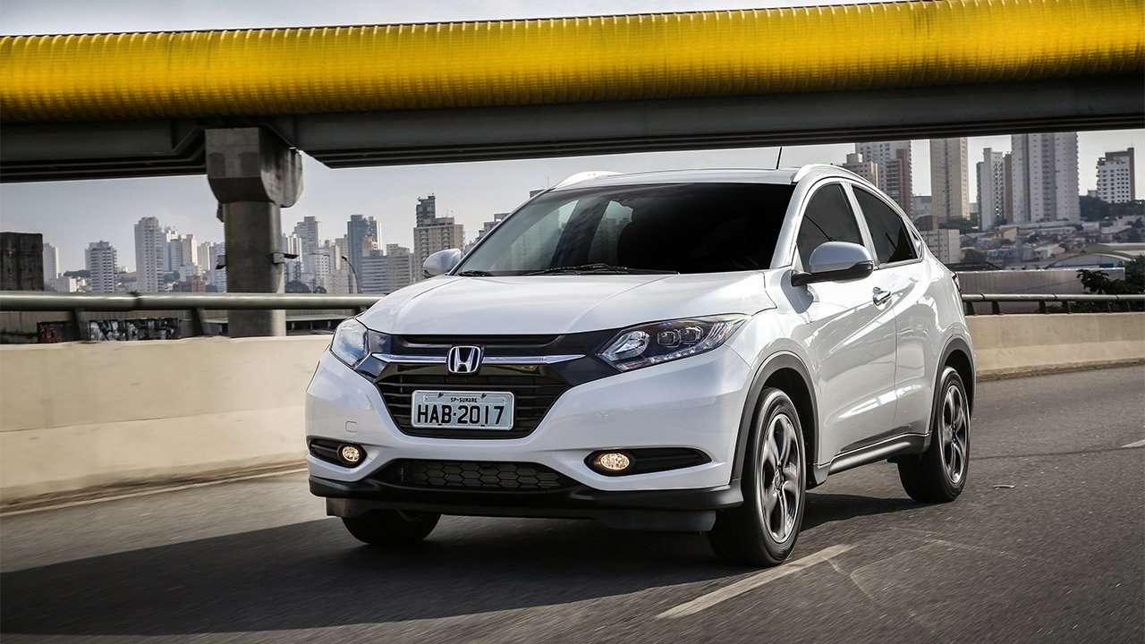 Белый Honda HR-V 2019-2020 спереди