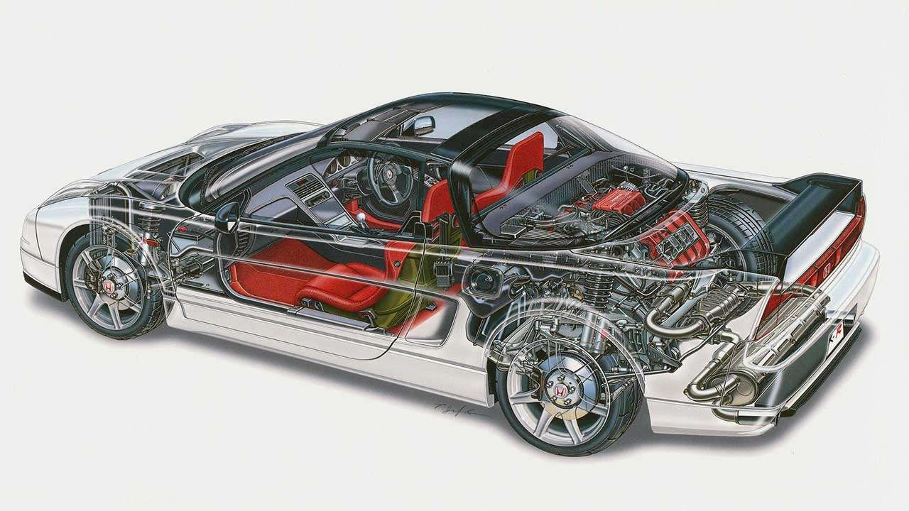 Хонда NSX в разрезе