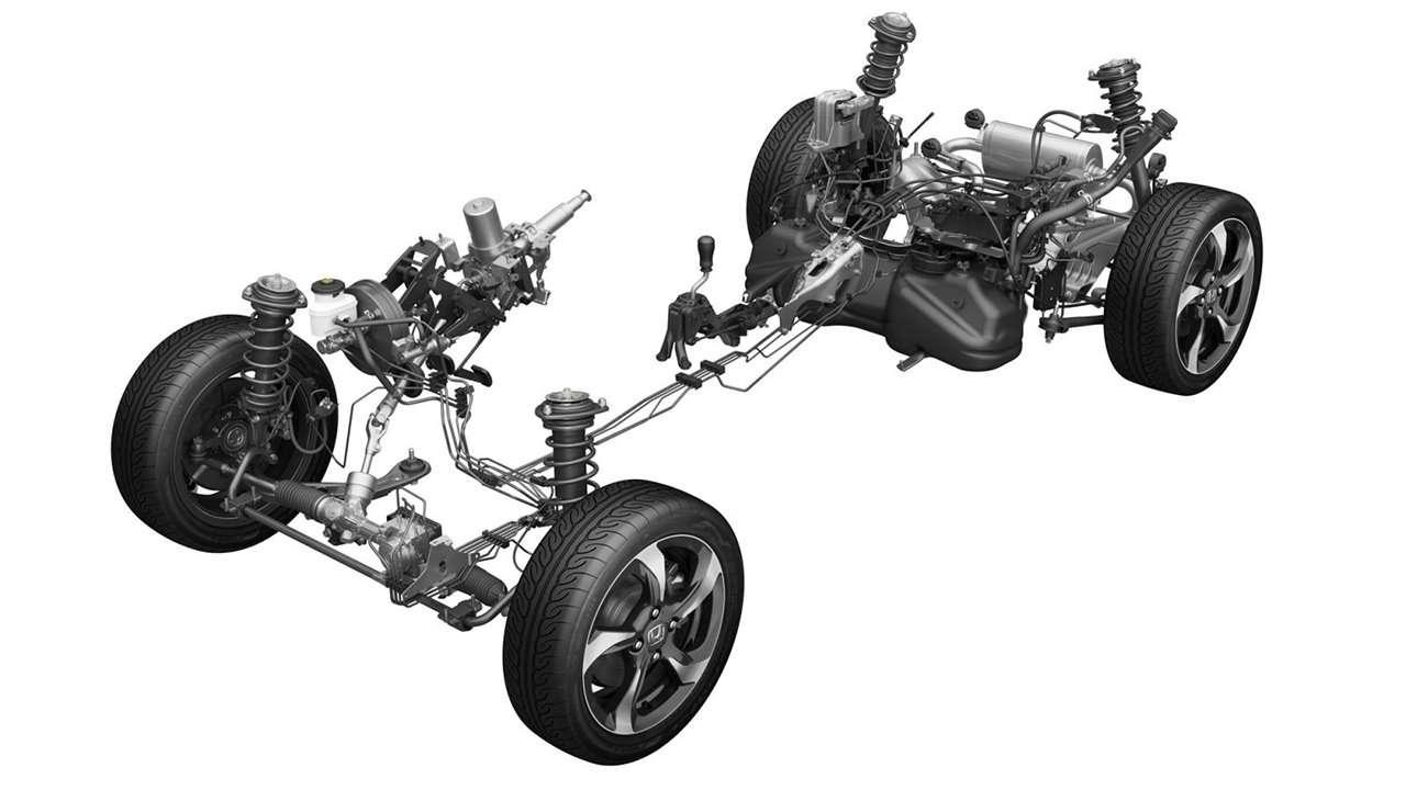 Honda S660 схема подвески