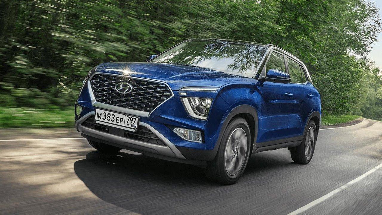 Новая Hyundai Creta в синем цвете