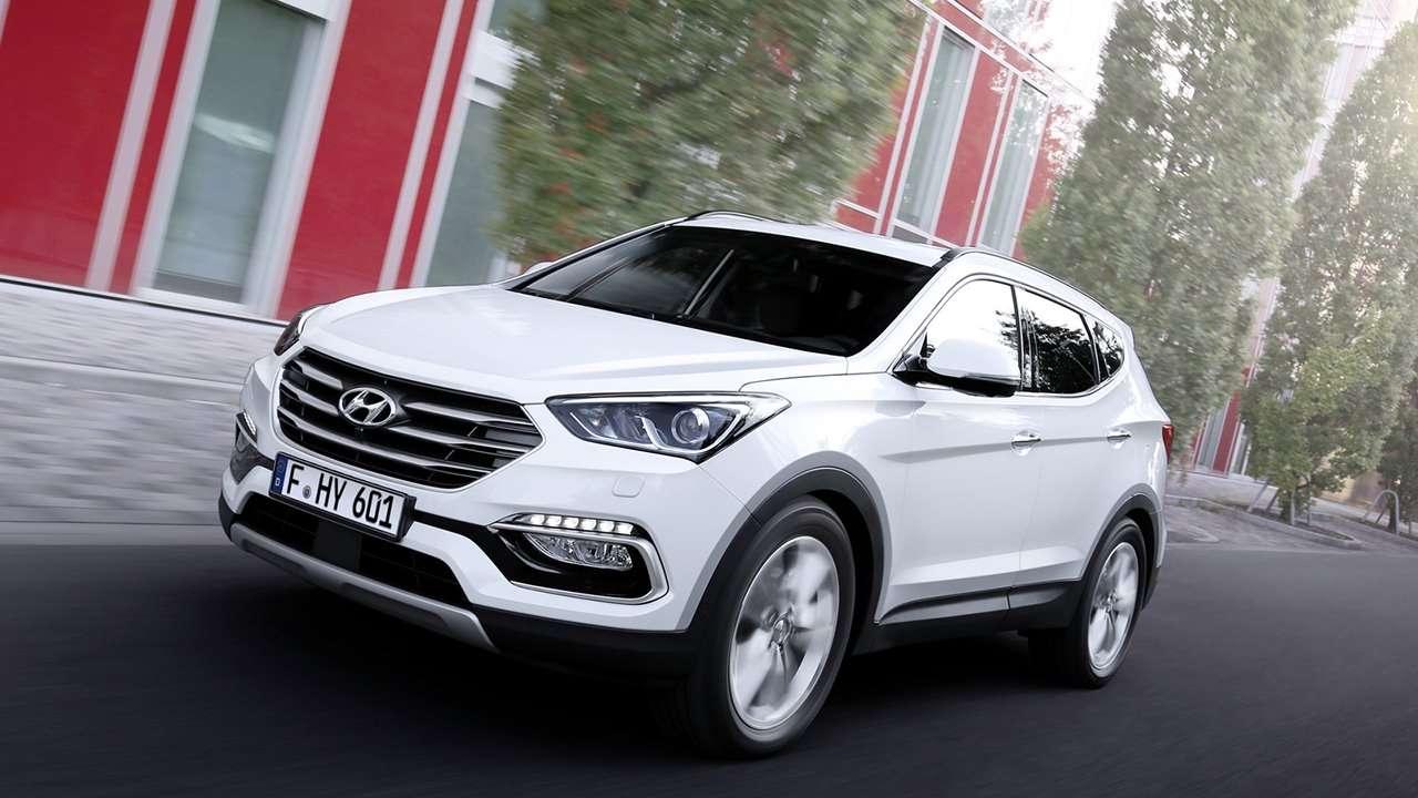 Hyundai Grand Santa Fe 2017-2018 фото спереди