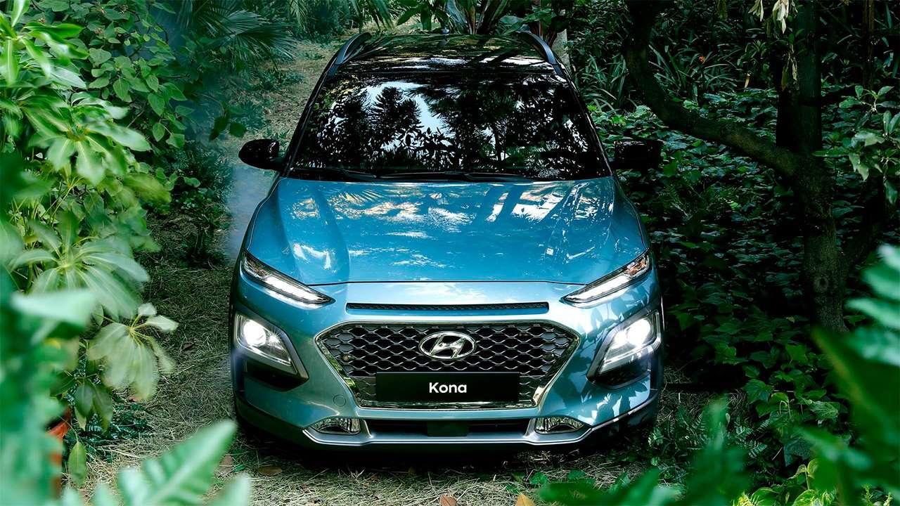 Передняя часть Hyundai Kona 2020-2021