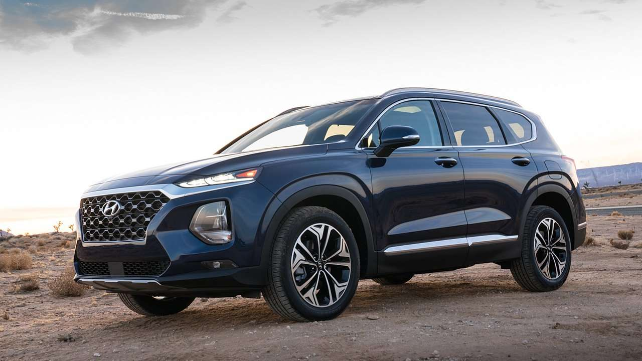 Передняя часть Hyundai Santa Fe 2020-2021
