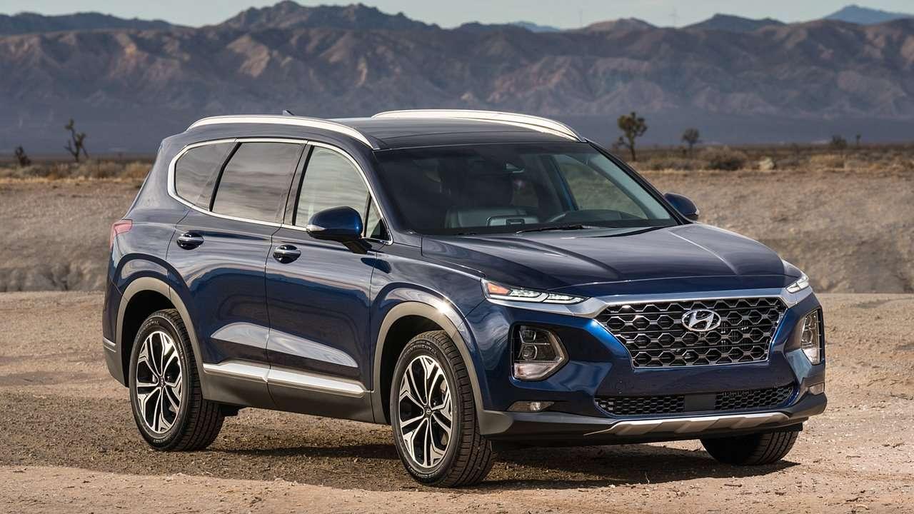 Синий Hyundai Santa Fe 2020-2021