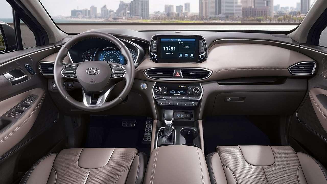 Фото салона нового Hyundai Santa Fe