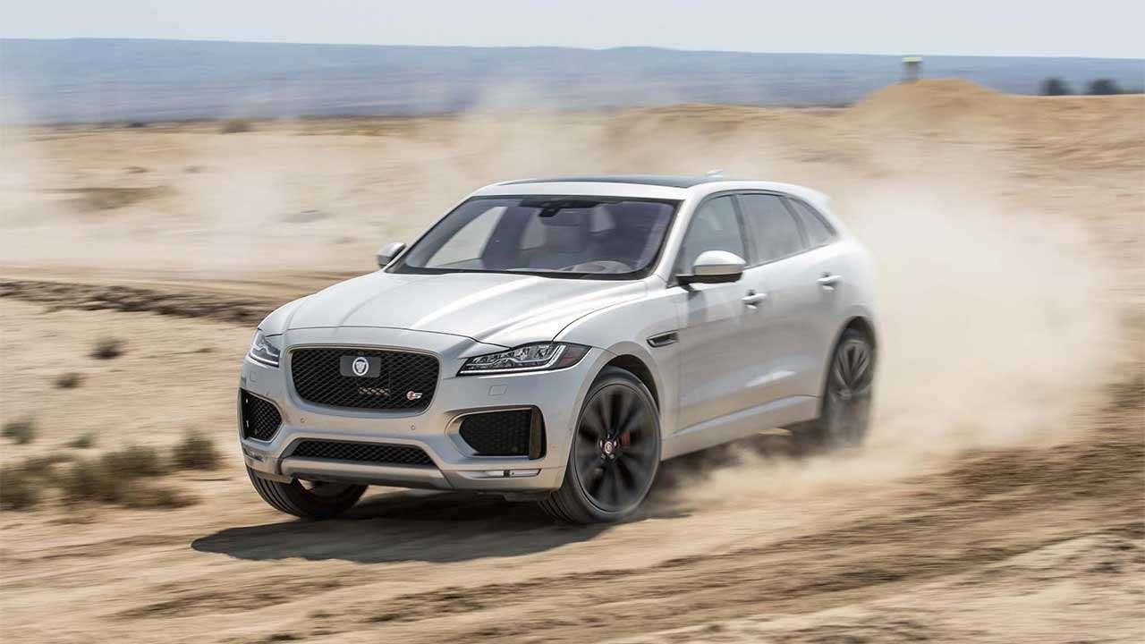 Фото белого Jaguar F-Pace 2020-2021