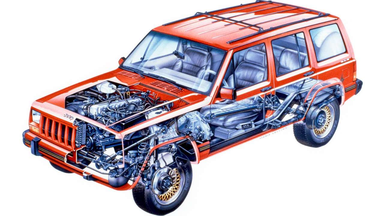 Начинка второго Jeep Cherokee